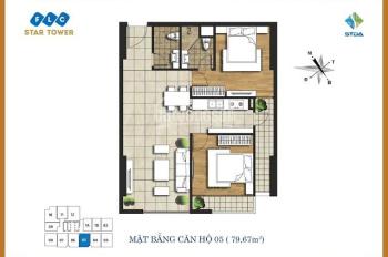 Bán cắt lỗ sâu căn hộ 79m2 bàn giao thô tại chung cư FLC Star Tower 418 Quang Trung Hà Đông