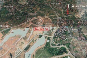 Bán đất nền Tân Xã sát vách khu CNC Láng Hòa Lạc, sổ đỏ chính chủ giá chỉ từ 700tr/lô, lãi 30 - 40%