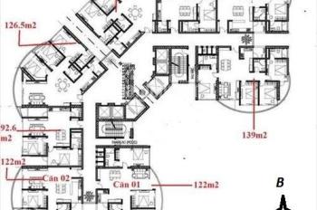 Bán căn hộ 08 tòa N01T8 - khu Ngoại Giao Đoàn - Từ Liêm, diện tích 136m2 view nội khu giá rẻ