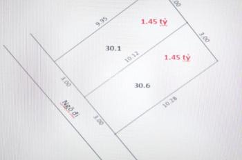 Bán lô đất cực đẹp 30m2, đường 3,3m giá 1,45 tỷ Hà Trì, Hà Đông
