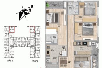 Căn hộ 3PN, căn hộ 2 chìa khoá Dual key DT 104m2, hướng ĐB, The Zei Mỹ Đình, HD Mon
