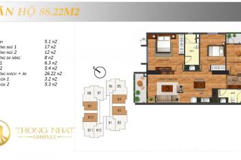 Bán lại 2 căn hộ 88m2 và 122m2, ban công Đông Nam, giá rẻ nhất thị trường (0988347838)