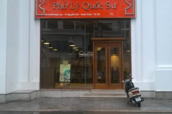 Bán shophouse tầng 1 tòa R1 Royal City, ký hợp đồng thuê lại luôn với giá 80tr/tháng