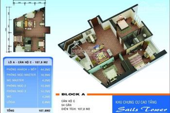 Bán căn góc 3PN chung cư sông Nhuệ (Sail Tower), đường 70, Kiến Hưng, Hà Đông
