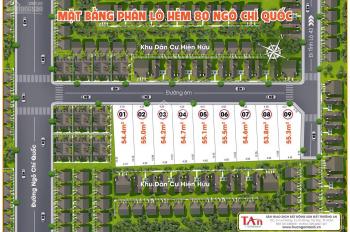 Bán đất 2 mặt tiền hẻm 80 Ngô Chí Quốc, DT: 55,3m2, giá: 2.3 tỷ. Vị trí cực đẹp, LH 0967.666.002
