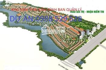 Bán đất biệt thự khu sinh thái Cẩm Đình Phúc Thọ khu: T, S, L, E, X, F, G giá từ 2,8 tr/m2 & 4tr/m2