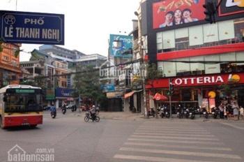Cho thuê nhà mặt phố Lê Thanh Nghị, Hai Bà Trưng, DT 60m2 x 5 tầng, mặt tiền 9m, thông sàn