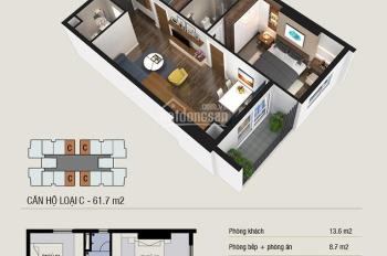 Chính chủ cần bán lại căn hộ 61,7m2 T3 Thăng Long Capital, giá cắt lỗ sâu
