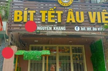 Cho thuê nhà mặt phố Nguyễn Khang. DT 60m2, 3 tầng, MT 5m, 25tr/tháng