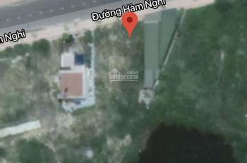 Mặt tiền đường Hàm Nghi lộ giới 30m có lô đất sổ đỏ thổ cư 100% chỉ 1,2 tỷ LH 0983 38 1033