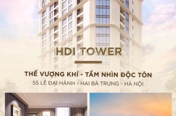 Căn hộ A8 hướng Đông Nam, HDI Tower, vị trí độc tôn, bàn giao full đồ, DT 95m2, giá CĐT 7,7 tỷ