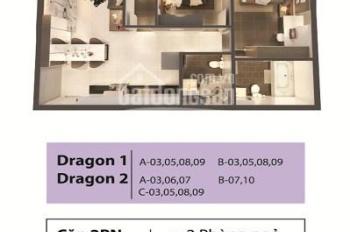 Căn hộ tầng thấp 2PN tòa Dragon 1. Thanh toán 36% sở hữu căn hộ và thanh toán dần theo tiến độ