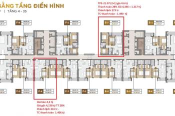 Bán gấp căn hộ 3PN The Palace diện tích 85.3m2 giá chỉ 4,5 tỷ(thương lượng), chính chủ 0908880811