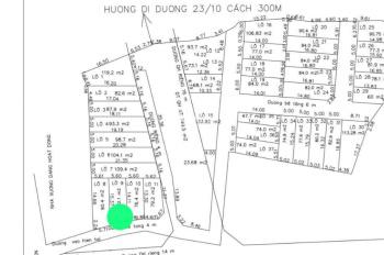 Bán đất Vĩnh Điềm Thượng - Vĩnh Hiệp, đường ô tô 14m, giá 13tr/m2. Lh 0905.573.486
