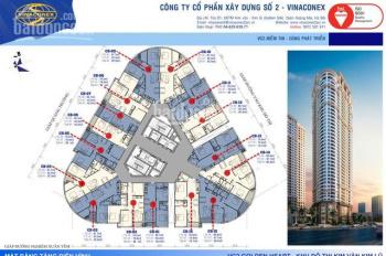 Bán căn hộ tầng trung tại tòa B Vinaconex 2 Kim Văn Kim Lũ 79,2m2, 3 ngủ full nội thất. 0336133493