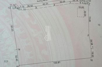 Bán đất gần chợ Bến Cát 20000m2 có sẵn 300m2 TC, mặt tiền nhựa 6m. Giá đầu tư