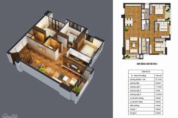 Chính chủ cần bán căn hộ 3 phòng ngủ 2WC 99.6m2 thông thủy chung cư Metropolitan CT36 Hoàng Mai.