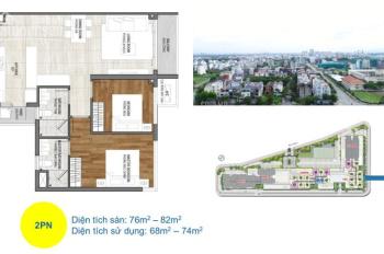 Cần bán One Verandah, 2PN tầng 19, căn góc + view sông Sài gòn, giá 6,430 tỷ LH PKD 0932.093.221