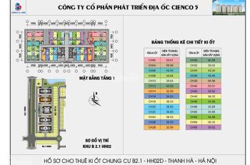 Bán cửa hàng Kiot kinh doanh tầng 1 chung cư Thanh Hà Cienco 5.