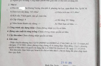 Cần bán nhanh 1117m2 đất, MT An Dương Vương, Bình Tân giáp Q6, Q8