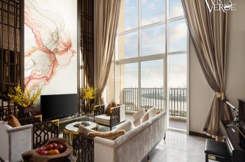 Cần bán gấp căn sky villa 407m2- thiết kế 5 PN- full nội thất mới 99%- tầng 34+35- view sông SG