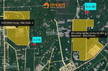 Kẹt tiền ra gấp lô đất ngay ngã 4 khu công nghiệp Minh Hưng 3, 14x50=697,6m2 giá 1,45 tỷ, TC 100m2
