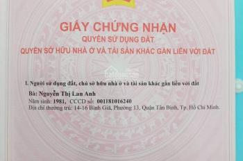 Bán nhanh đất hẻm 125 Tây Lân, Bình Trị Đông, Bình Tân, 50m2, 2.65 tỷ