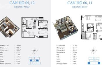 Chính chủ bán căn 1005 chung cư C46 Định Công, DT: 73,5m2, có điều hòa, giá 27tr/m2. LH: 0902227009