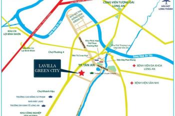 Nhà phố La Villa Green City  Thành phố Tân An  Thanh toán 25% - Ngân hàng BIDV hỗ trợ 70% giá trị