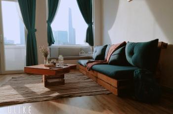 Cho thuê căn hộ 1 phòng ngủ quận 1, 73m2, đối diện Vincom, view nhìn về Bitexco, nhà cực phong cách