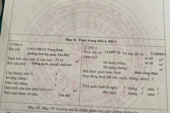 Đổi qua nhà mới cần bán lại nhà cũ Lê Quang Định Quận Tân phú
