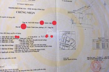 Bán nhà 1 trệt 2 lầu hẻm xe hơi đường Bà Huyện Thanh Quan, P4, TPVT, diện tích: 79.2m2, 4.5 x 17,5m