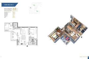 Chính chủ bán căn 78,28m2 chung cư Hà Nội Homeland, BC Đông Nam, 3PN, giá 22,3tr/m2. LH: 0962251630