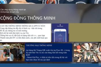 Bán Shop chân đế tòa chung cư. Dự án Vinhomes Smart City, khu đô thị văn minh hiện đại ở Hà Nội