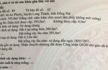 Chính chủ bán nhà mặt tiền vip QL51, xã An Phước, huyện Long Thành, 15x40m. (8tr/m2) (600m2)
