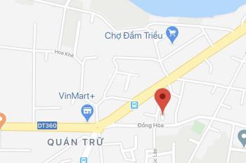Cần bán lô đất ngõ 47 Đồng Hòa - Kiến An. Cách mặt đường 30m, cách ngã 6 Quán Trữ chưa đến 100m