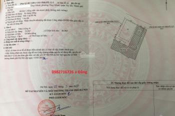 Bán đất ngõ 105 Thụy Khuê thông sang 66 Hoàng Hoa Thám, DT 60m2, MT 6m, giá 85 tr/m2. LH 0982716726