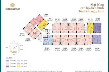 Tôi bán căn hộ Phúc Đồng Hope Residence, DT 69,19m2, tòa H4, giá 1,38 tỷ. LH: 0971285068