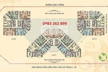 Chính chủ cho thuê căn chung cư N04 Hoàng Đạo Thúy DT: 93,8m2, giá 13tr/th, CC 0983 262 899