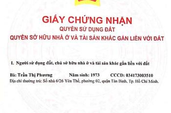Bán nhà đường Yên Thế,phường 2,Quận Tân Bình