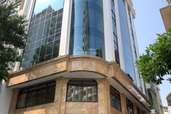 Cho thuê nhà mặt phố Trần Quốc Hoàn, Cầu Giấy. Diện tích 200m2 * 8 tầng + 1 hầm, MT 15m