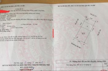 Bán đất 42m2, địa chỉ: Khu 918 Phúc Đồng, Long Biên, Hà Nội, rộng: 4m, dài: 10.50m, hướng: TN