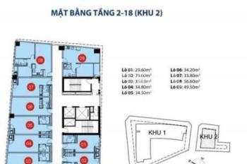 Cần cho thuê gấp 1 sàn 9 căn OT Sài Gòn Royal quận 4, giá hấp dẫn