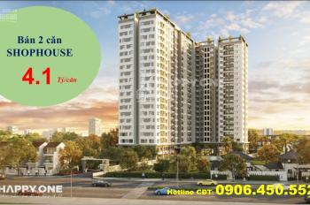 Vạn Xuân GroupMở bán 2 căn hộ SHOPHOUSE HAPPY ONE, 1 trệt 1 lầu, giá chỉ 4 tỷ, ngân hàng hỗ trợ 70%