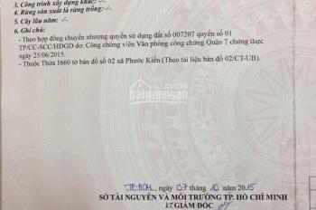 Bán gấp lô đất Phước Kiển - Nhà bè khu B Làng Đại Học, liên hệ 0913605887