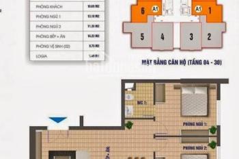 Bán Nhanh- Căn hộ tầng đẹp Nam Xa La 81m2-2PN- Giá 1,2 Tỷ