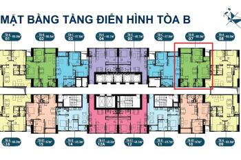 Cần bán căn hộ ở dự án Intracom Riverside, căn 2206 DT: 57.6m2, giá bán: 21tr/m2. LH: 0904999135