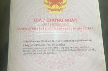 Cần bán nhanh lô đất nền KĐT FPT City Đà Nẵng giá rẻ cho khách hàng đầu tư hoặc mua ở