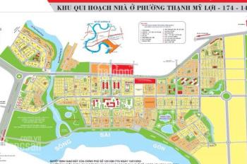 Bán đất Huy Hoàng xây 7 lầu 8x20m, hướng ĐN đường 20m gần sông và UBND Q2, giá 155tr/m2