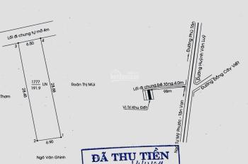 Đất 191.9m2 ngay ngã 3 Đồng Cây Viết, P. Phú Mỹ (6.5m x 29m) nở hậu 6.9m. LH: 0358997825